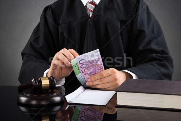 судья евро банкнота стороны Сток-фото © AndreyPopov