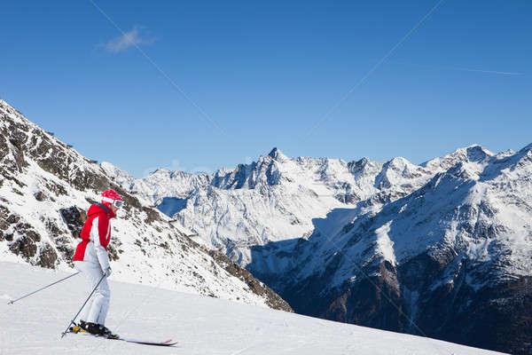 Woman At Ski Resort Of Soelden Stock photo © AndreyPopov