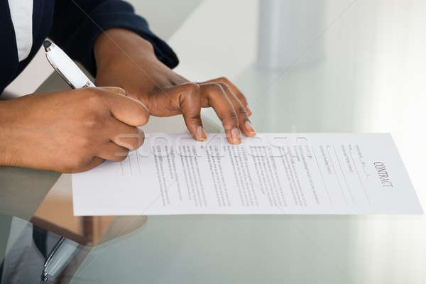 Person Signing Contract Stock photo © AndreyPopov