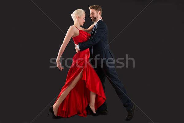 танцы черный портрет молодые счастливым Сток-фото © AndreyPopov