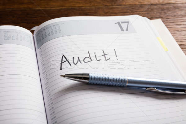 An Audit Concept In Diary Stock photo © AndreyPopov