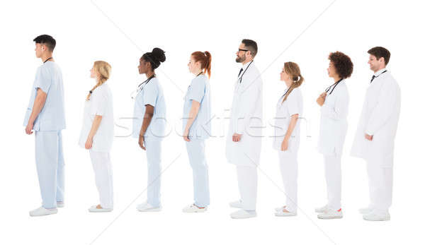 Multiracial Medical Team Standing On Row Stock photo © AndreyPopov