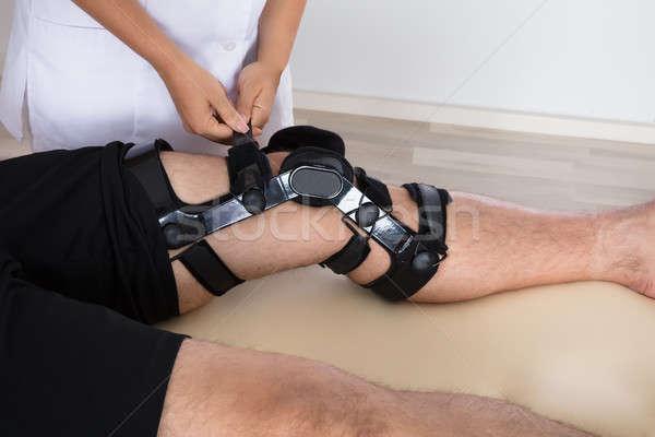 Knie bretels been vrouwelijke ziekenhuis Stockfoto © AndreyPopov