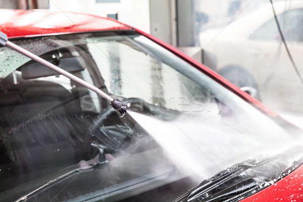 Washing Red Car Stock photo © AndreyPopov
