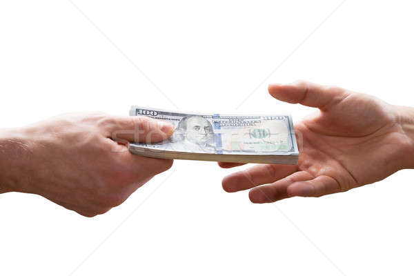Human Hand Giving Bribe To Other Person Stock photo © AndreyPopov