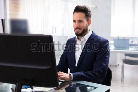 Businessman Using Computer Stock photo © AndreyPopov