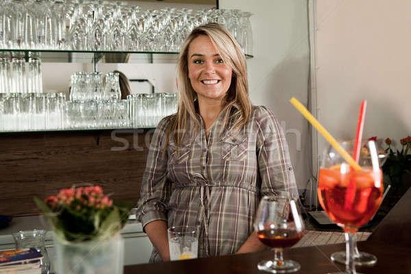 Cheerful bartender Stock photo © AndreyPopov