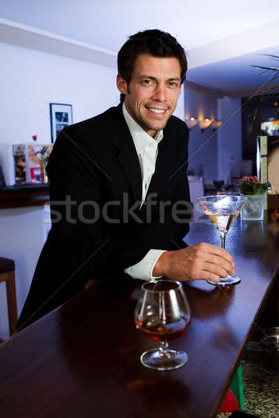 Man at the bar Stock photo © AndreyPopov