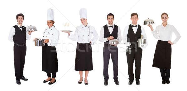 группа официант официантка молодые белый женщину Сток-фото © AndreyPopov