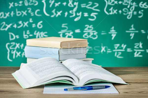 School textbooks on a desk Stock photo © AndreyPopov