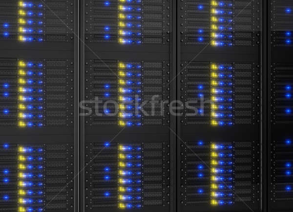 Close-up on server racks Stock photo © AndreyPopov