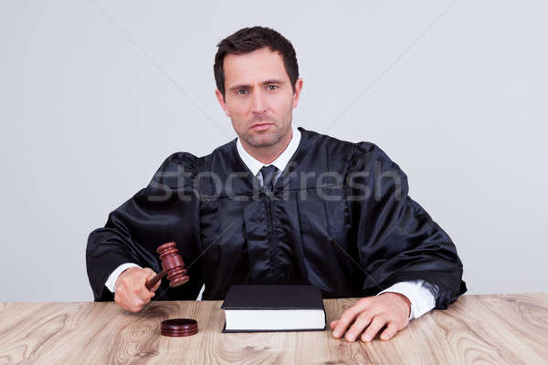 Male Judge In A Courtroom Stock photo © AndreyPopov