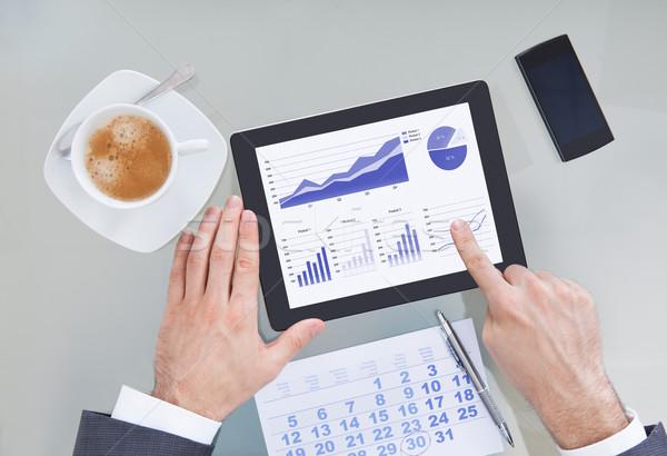 Digitale tablet kalender hand Stockfoto © AndreyPopov