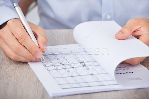 Businessman Calculating Accounts Stock photo © AndreyPopov