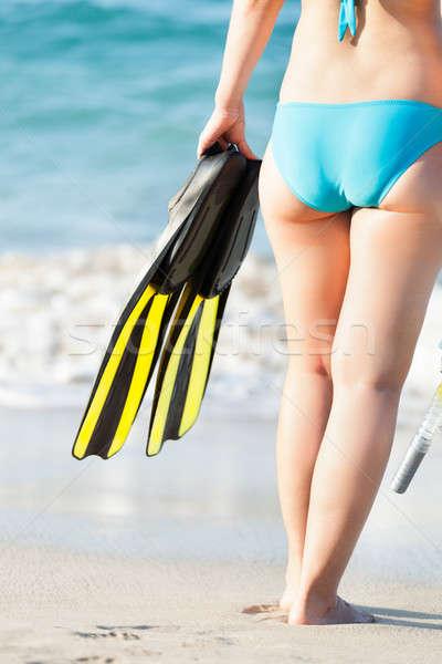 女性 ダイビング 背面図 ストックフォト © AndreyPopov