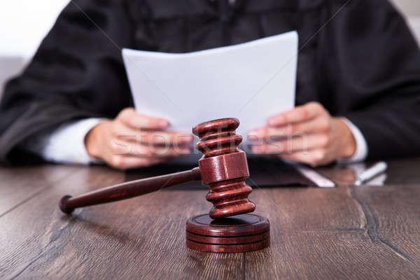 Giudice documenti primo piano maschio carta Foto d'archivio © AndreyPopov