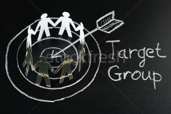 Target Group On Blackboard Stock photo © AndreyPopov
