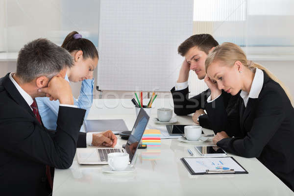 Unhappy Businesspeople In Business Meeting Stock photo © AndreyPopov