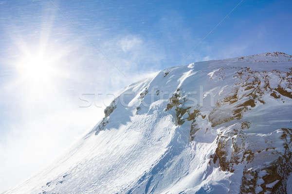 Sunshine Альпы солнце природы снега горные Сток-фото © AndreyPopov