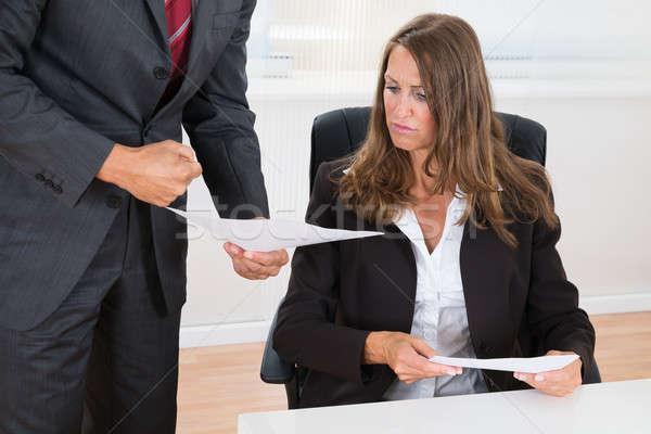 бизнесмен документа сотрудник женщины Сток-фото © AndreyPopov