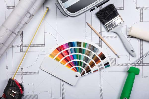 Kolor przewodnik plany widoku farby Zdjęcia stock © AndreyPopov
