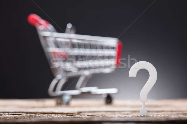 Question Mark With Shopping Cart In Background Stock photo © AndreyPopov