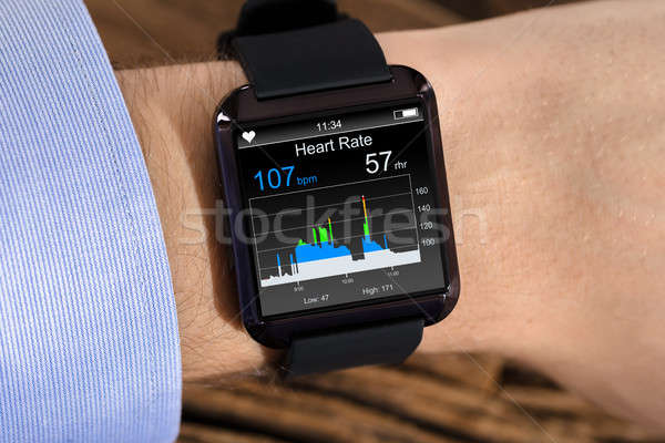 Person Hand Wearing Smart Watch Stock photo © AndreyPopov