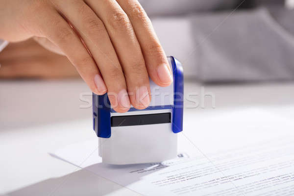 Person Approving Contract Form Stock photo © AndreyPopov