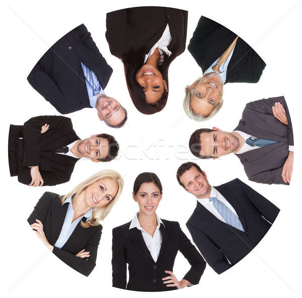 Low angle view of diverse group of business people Stock photo © AndreyPopov
