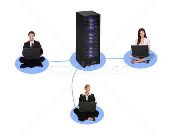 Networking diagram Stock photo © AndreyPopov