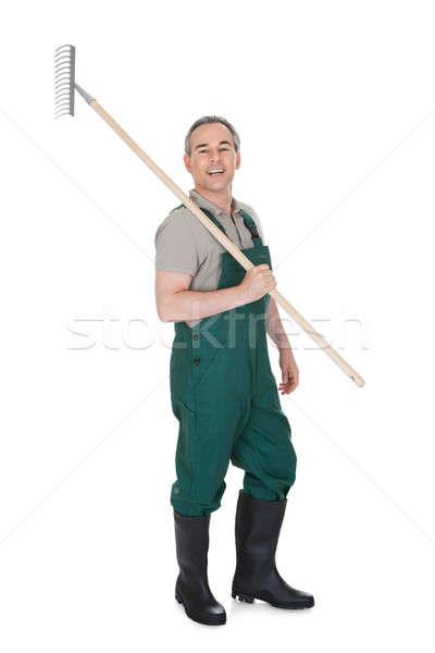 Male Gardner With Gardening ToolВ Stock photo © AndreyPopov