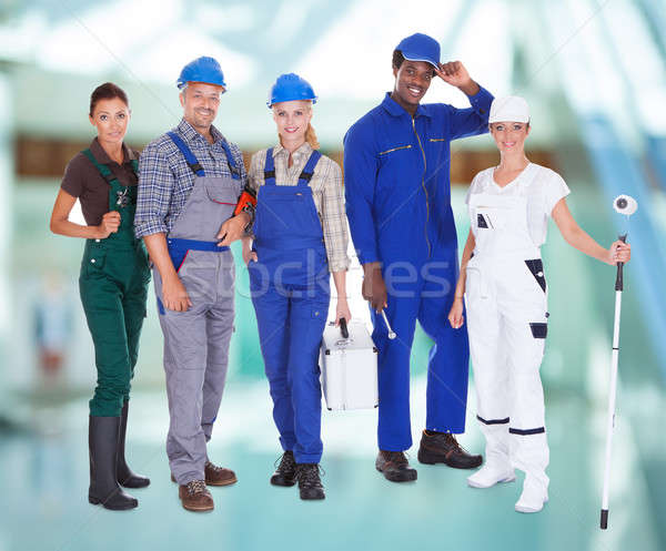 Groupe de gens professions groupe personnes permanent Photo stock © AndreyPopov