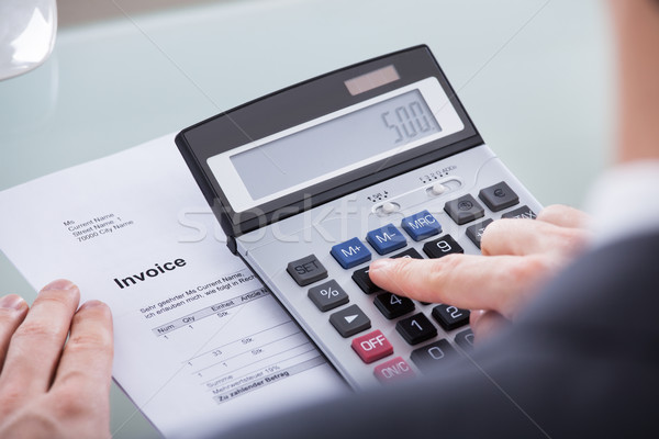 üzletember számítás közelkép számológép irat üzlet Stock fotó © AndreyPopov