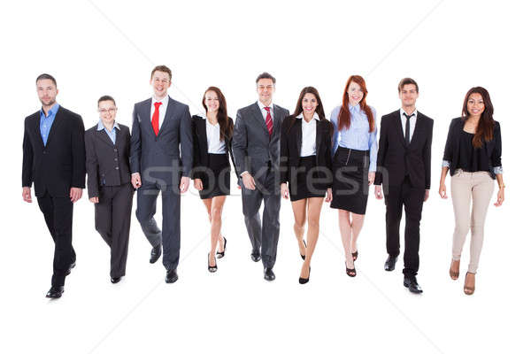 Large group of business people walking Stock photo © AndreyPopov
