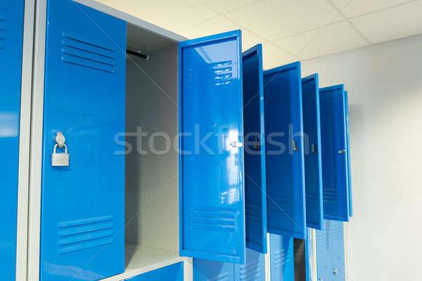 Açmak oda fotoğraf mavi okul kapı Stok fotoğraf © AndreyPopov