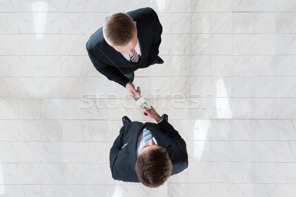 Empresário colega escritório diretamente acima tiro Foto stock © AndreyPopov