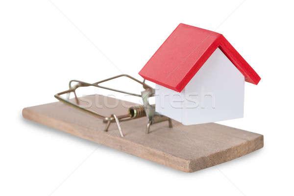 Ev minyatür ev kırmızı mimari Stok fotoğraf © AndreyPopov
