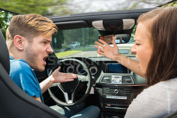 Couple Quarreling In A Car Stock photo © AndreyPopov