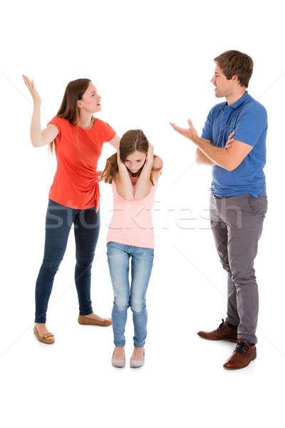 Parent Quarreling On White Background Stock photo © AndreyPopov