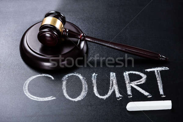 Court Concept With Gavel On Blackboard Stock photo © AndreyPopov