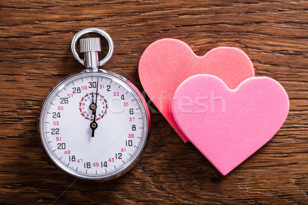 Speed Dating Concept. Hearts And A Stop Watch Stock photo © AndreyPopov