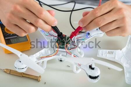 человека электрических текущий инструментом Сток-фото © AndreyPopov
