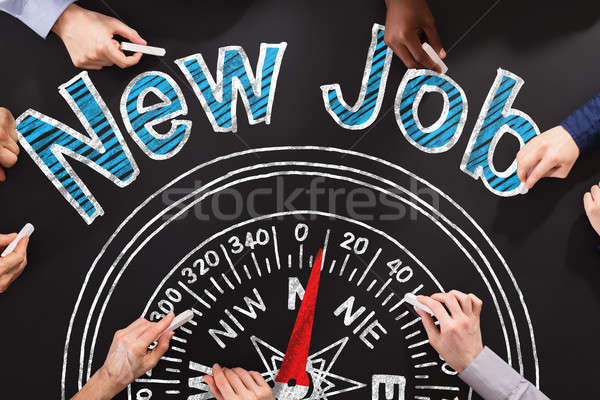 New Job Words On Blackboard Stock photo © AndreyPopov