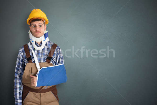 Handyman With Fractured Hand Stock photo © AndreyPopov