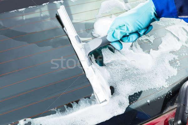 Pessoas mão lavagem pára-brisas Foto stock © AndreyPopov