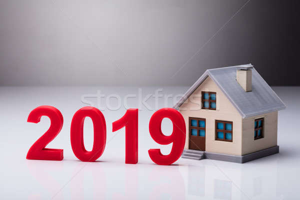 Year 2019 Besides House Model Stock photo © AndreyPopov