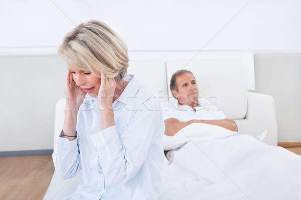 Mature Couple In Quarrel At Home Stock photo © AndreyPopov