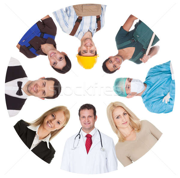 Low angle view of diverse professional group Stock photo © AndreyPopov