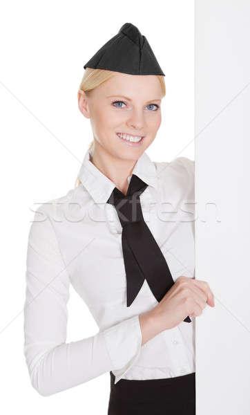 Portret piękna młodych odizolowany biały Zdjęcia stock © AndreyPopov