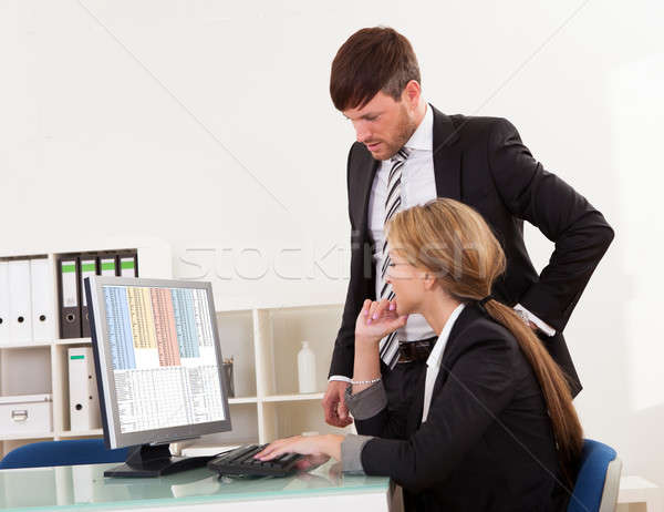 Auditor explaining account processes Stock photo © AndreyPopov